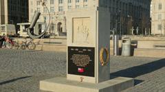 Merchant navy war memorial, pierhead, liverpool, england Stock Footage