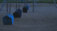 Cinematic Children's Swings Stock Footage