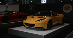 Supercars at the New York International Auto Show Stock Footage