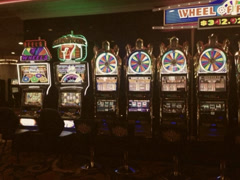 Vintage Style 8mm Old Casino Machines in Las Vegas Stock Video Stock Footage