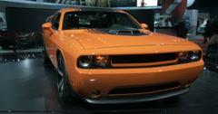 Corvette exhibit at the New York International Auto Show Stock Footage