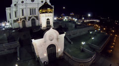 Chapel near edifice of Christ the Saviour Cathedral Stock Footage