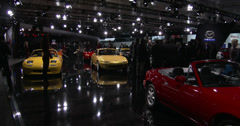 Mazda exhibit at the New York International Auto Show Stock Footage