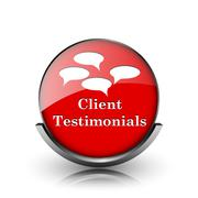 client testimonials icon - stock illustration