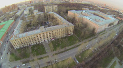 Cityscape near edifice of military commandant regiment Stock Footage