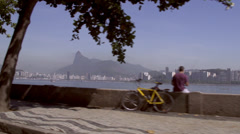 Rio De Janeiro harbor drive by Stock Footage
