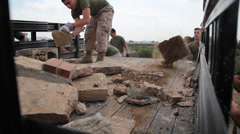 Marines Cleaning up on Earth Day 2 - stock footage