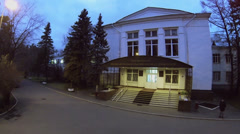 Entrance to central research institute of tuberculosis at autumn Stock Footage