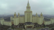 Stock Video Footage of Parking near main building of Moscow State University