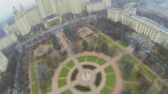 Square with Lomonosov monument near main building of MSU Stock Footage