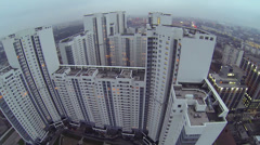 Urban sector with dwelling complex Sky Fort at autumn Stock Footage