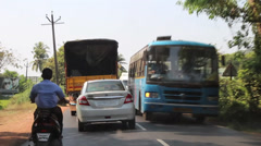 Traffic in india Stock Footage