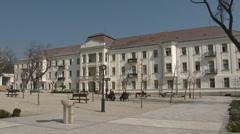 4K Balatonfured Hungary Sanatorium Heart Hospital 3 Stock Footage