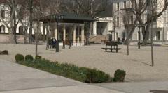 4K Balatonfured Hungary Sanatorium Heart Hospital Square 7 Stock Footage