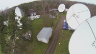 Stock Video Footage of Large parabolic antennas on territory of informational station