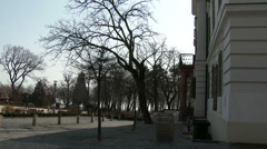 4K Balatonfured Hungary Sanatorium Heart Hospital Square 8 Stock Footage