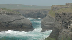 Kilkee Cliffs Ocean 2 Stock Footage