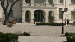 4K Balatonfured Hungary Sanatorium Heart Hospital Square 9 Stock Footage
