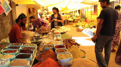 Spices market in india Stock Footage