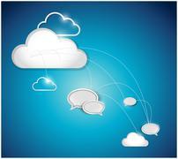 Cloud computing communication network Stock Illustration
