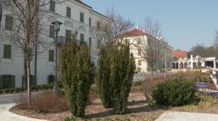 4K Balatonfured Hungary Square Sanatorium Heart Hospital 6 Stock Footage