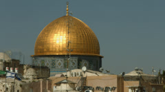 4K UHD Temple Mount Dome of the Rock Stock Footage