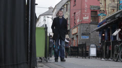 Shop Street Galway Timelapse Stock Footage