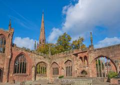 Coventry Cathedral ruins - stock photo