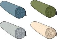 Stock Illustration of isolated rolls of carpet