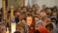 Stock Video Footage of Christ is Risen in a Russian Orthodox Church