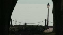 4K Balatonfured Hungary Tagore Walkway 8 Stock Footage