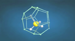 Methane hydrate molecule structure. - stock footage