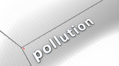Growing chart graphic animation, Pollution. Stock Footage