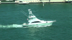 Motorboat in Fort Lauderdale Stock Footage
