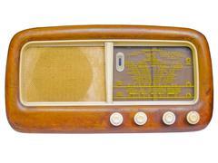 Old AM radio tuner - stock photo