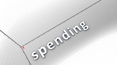 Growing chart graphic animation, Spending. Stock Footage