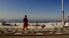 Rio De Janeiro Beach drive by 1 Stock Footage