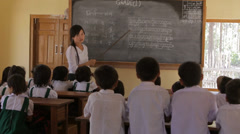 Children In School in the Karen State of Burma Stock Footage