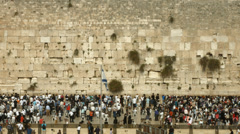4K UHD Jews Pray at the Western Wall during the Passover Holiday Stock Footage