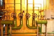 Stock Photo of regulating station with pressure relief valves.