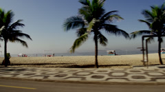 Rio De Janeiro beach drive by Stock Footage