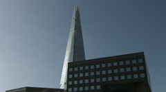 London Bridge commuters and The Shard. HD version Stock Footage