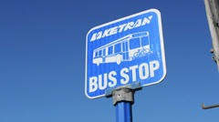 Bus Stop Sign - stock footage