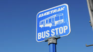 Stock Video Footage of Bus Stop Sign