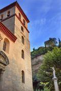 church iglesia durante la eucarista alhambra moon carrera del darro albaicin  - stock photo
