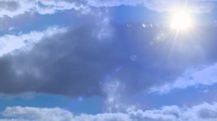 Heavenly Blue Sky and Clouds Stock Footage