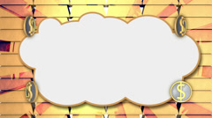 Dollar cloud, loop Stock Footage