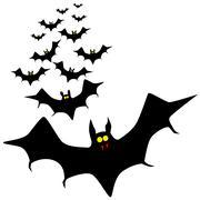 isolated bats - stock illustration