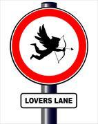 lovers lane - stock illustration