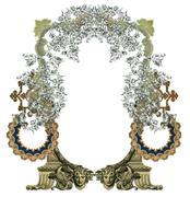 old frame - stock illustration